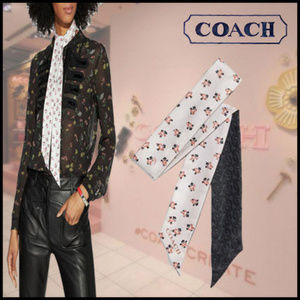 Coach Signature Chain Monogram Skinny Scarf